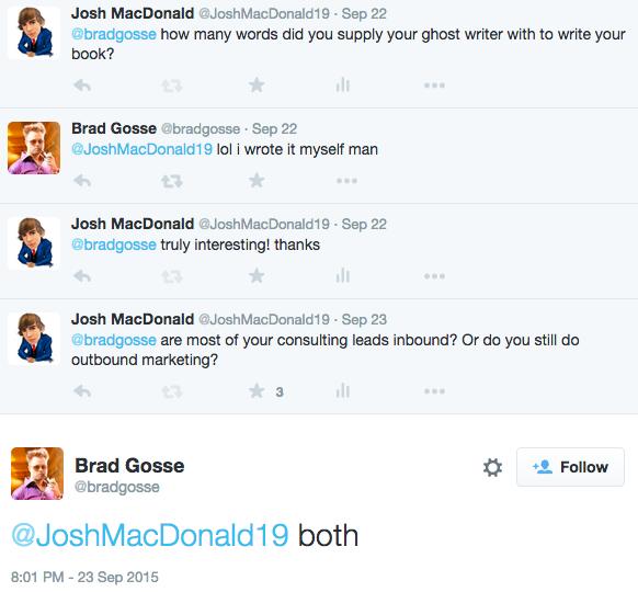 Brad Gosse Twitter