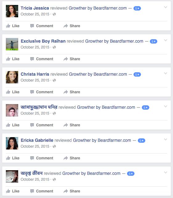 Fake facebook reviews