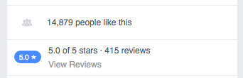 Unnatural facebook reviews to likes ratio