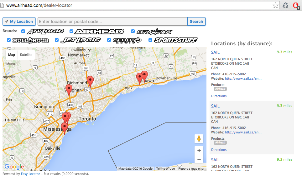 interactive map business directory