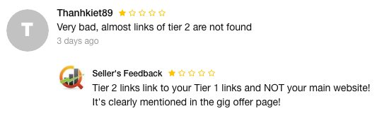 Fiverr negative reviews