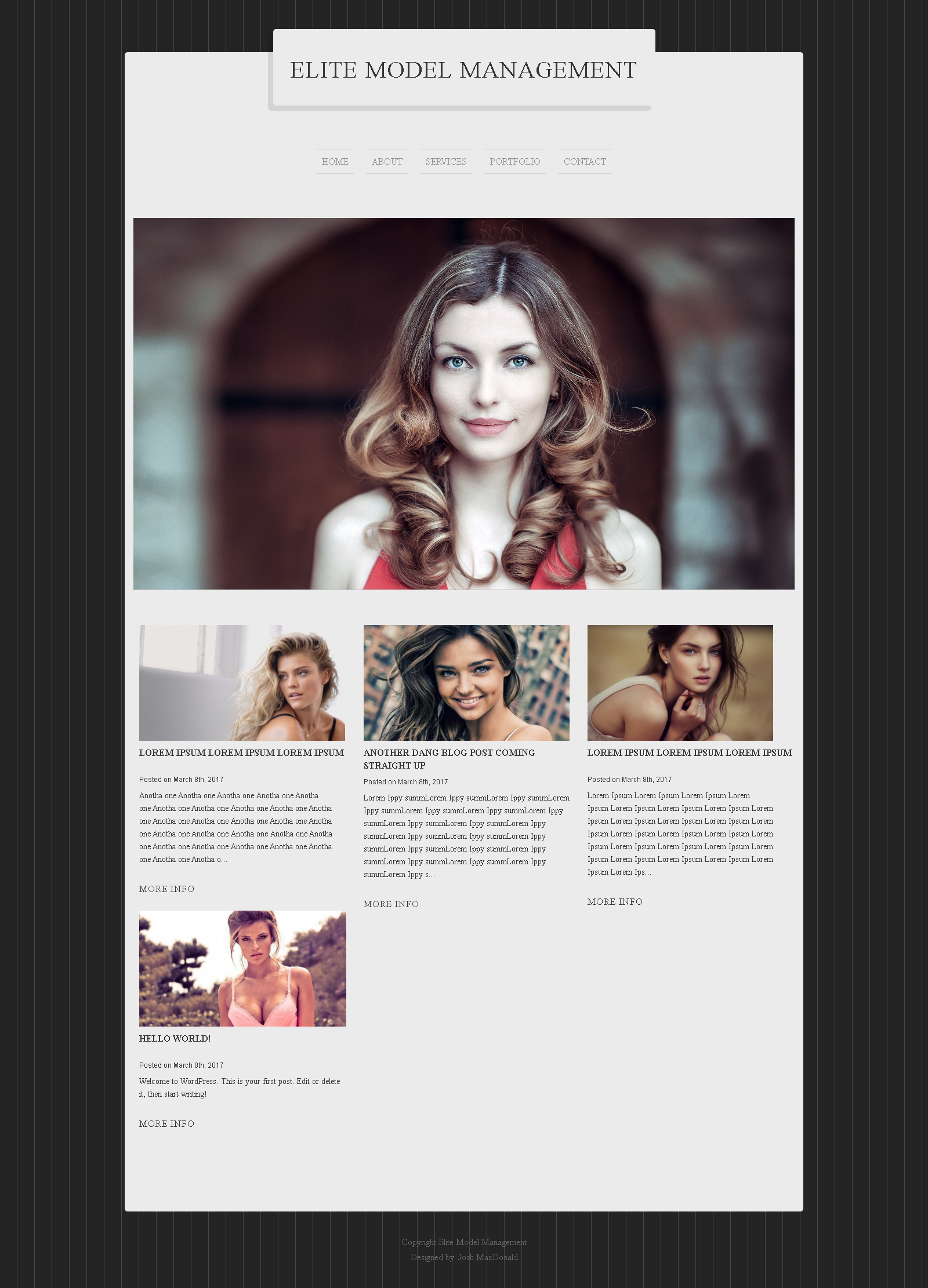 Free Modelling WordPress Theme